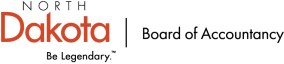 black and orange State Board of Accountancy logo